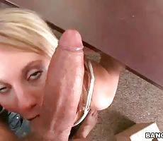 Cute Blonde Slurps Massive Cock 2