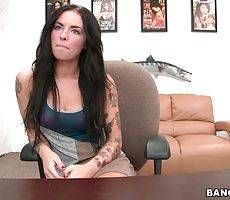 Pretty Tattooed Brunette Longs For Some Fun 1