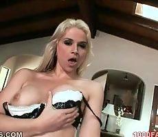 Sarah Vandella in black bra