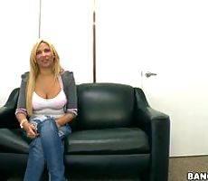 Backroom facials - Horny stripper goes to porno