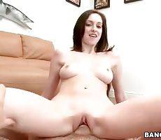 Sweet Skinny Brunette Gets Fucked And Spunked 1